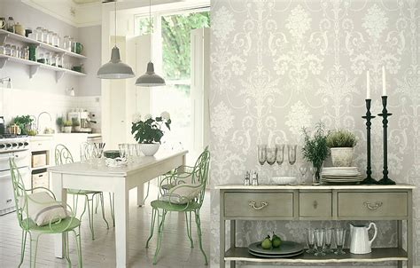 wallpaper kitchen ideas white kitchens
