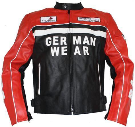 Motorrad Lederjacke Rot by Motorrad Lederjacke Motorradjacke Rindsleder Jacke Schwarz Rot