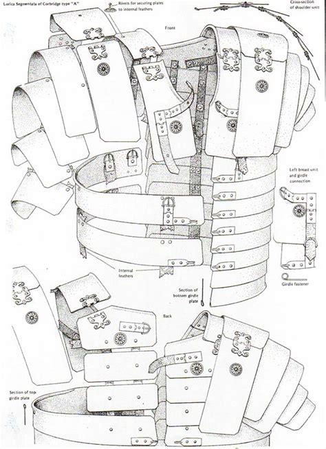 armor diagram legion xxiv corbridge type a lorica segentata armor