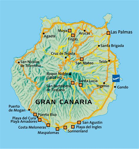printable map gran canaria tourist map of gran canaria gran canaria tourist map