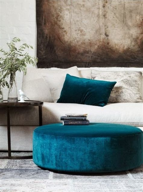 hassock ottoman footstool on trend velvet interiors vkvvisuals com blog