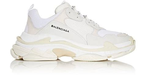 s balenciaga sneakers lyst balenciaga s sneakers in white for