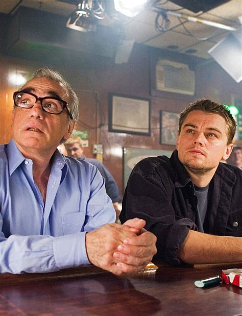 martin scorsese the departed martin scorsese and leonardo dicaprio on the set of the