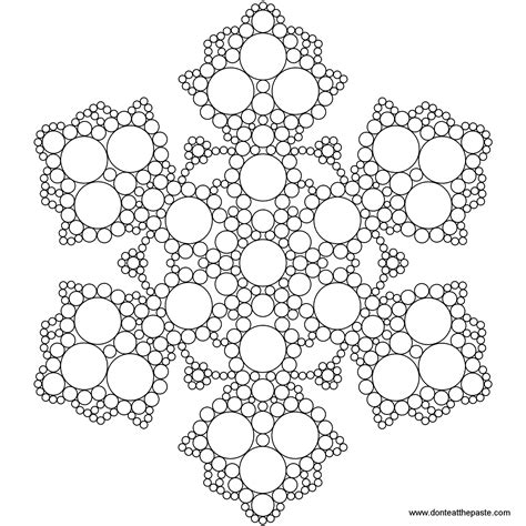 detailed snowflake coloring page soar detailed snowflake coloring pages quick large kids