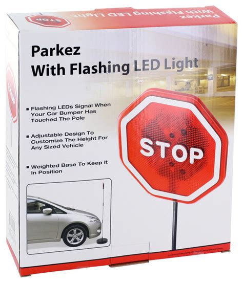 Garage Door Opener Green Light Blinking Park Ez Led Light Garage Parking Stop Sign