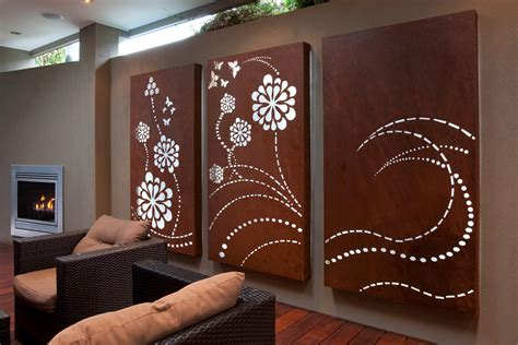 flower wave light box triptych laser cut wall for