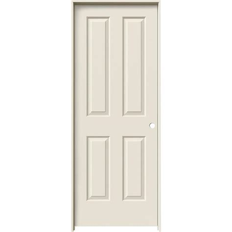 4 Panel Door Interior Shop Jeld Wen Coventry 4 Panel Square Single Prehung Interior Door Common 24 In X 80 In