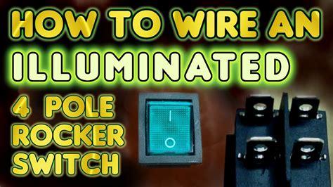 wire  illuminated  pole rocker switch kcd