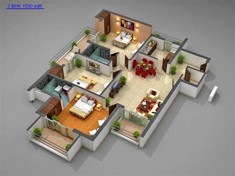 home design 3d 2bhk 3d house designs for 900 sq ft in india google search