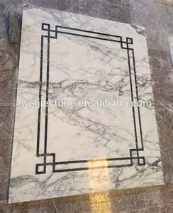 simple floor vokalas white marble simple water jet medallion design