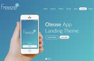welcome page templates oleose eye catching mobile app landing page
