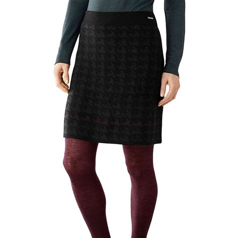 smartwool s knit houndstooth skirt