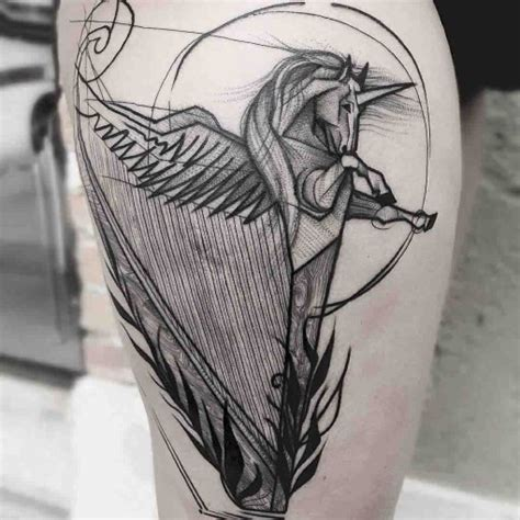 unicorn harp tattoo best tattoo ideas gallery