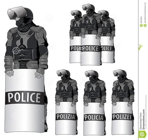 Ranti Set anti riot vector set stock vector illustration