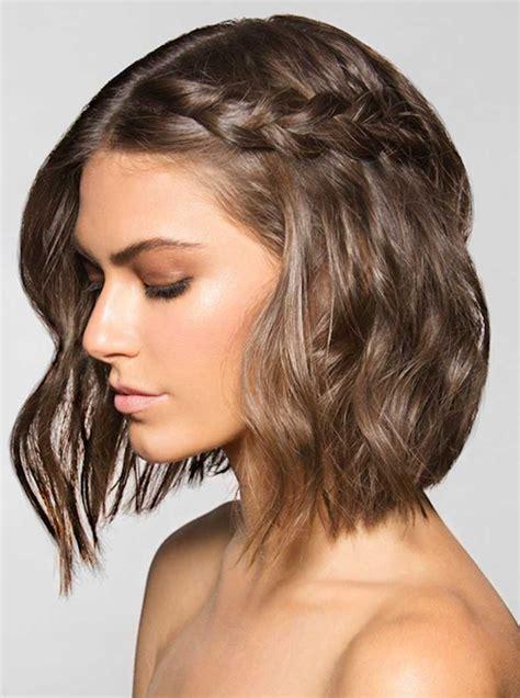 hair style ideas with slight wave in short 20 inspiradoras ideas de trenzas para cabello corto cut