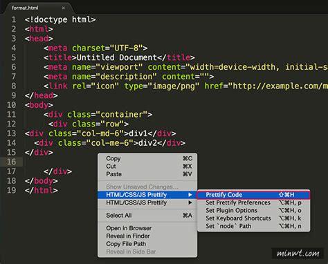format html code in sublime sublime htmlprettify 將sublime text裡的程式碼自動排版 梅問題 教學網