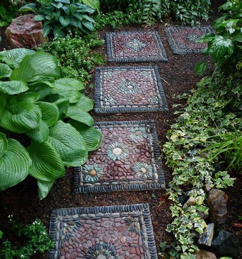 backyard stepping stone ideas garden stepping stone design and ideas inspirationseek com