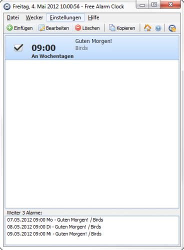 free alarm clock freeware de