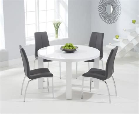 white chairs for dining table 20 best high gloss white dining tables and chairs dining