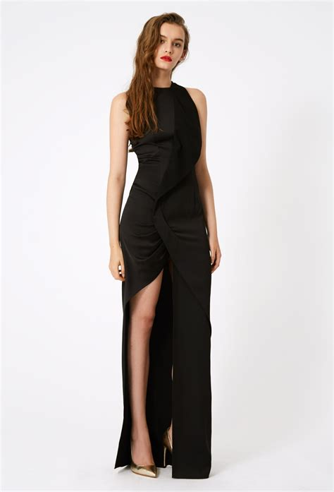 Maxi Aisyah Black 1 sybil high split maxi dress 183 black