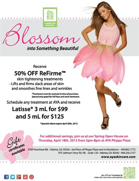 blossom into something beautiful with our april specials