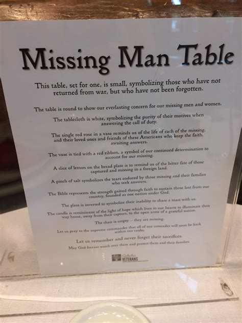 Missing Man Table Script Memorial Day And Cabela S Quot Missing Man Quot Table Ordinary