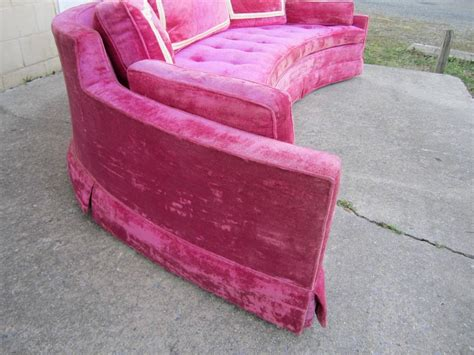 hot pink couches scrumptious harvey probber hot pink crescent sofa mid
