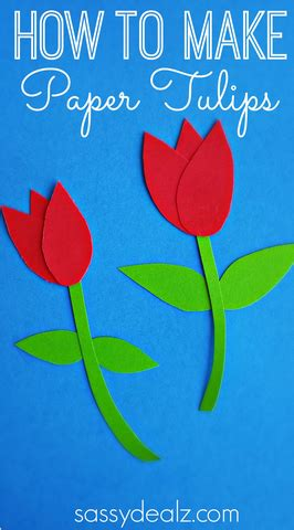 How To Make Paper Craft For - how to make paper tulips easy craft crafty morning
