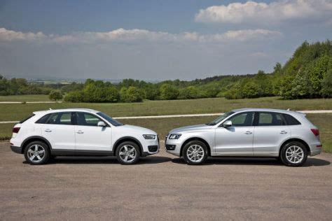 Vergleich Audi Q3 Und Q5 by Suv Vergleich Der Neue Audi Q3 Gegen Audi Q5 Autobild De