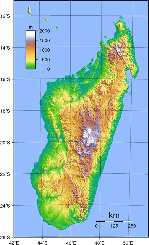 physical map of madagascar file madagascar topography png wikimedia commons
