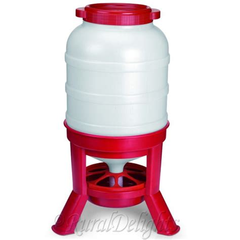 Large Poultry Feeder new etra large 40kg chicken tripod feeder poultry feed hooper home farm fowls
