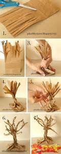 Paper Trees Craft - school project paper bag fall tree craft ideas