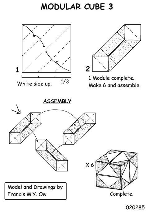 origami modular diagrams cube modular origami diagrams 2018