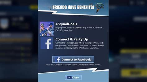 Fortnite: Battle Royale   How to link friends on Facebook