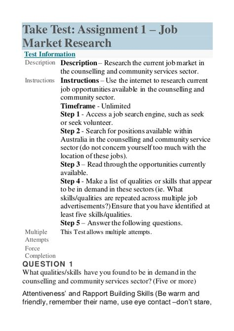 Market Research Analysts Description by Unit 12 Assignment 1 Market Research
