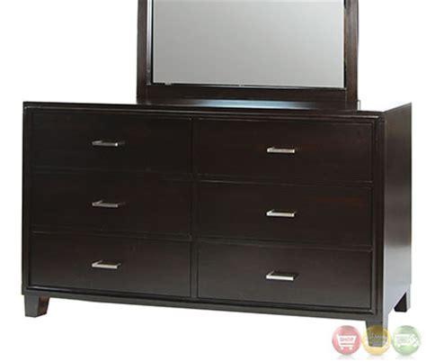 winn contemporary style leatherette finish winn park contemporary espresso platform bedroom set with