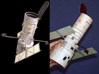 origami telescope maqueta de papel gratis telescopio hubble de la nasa