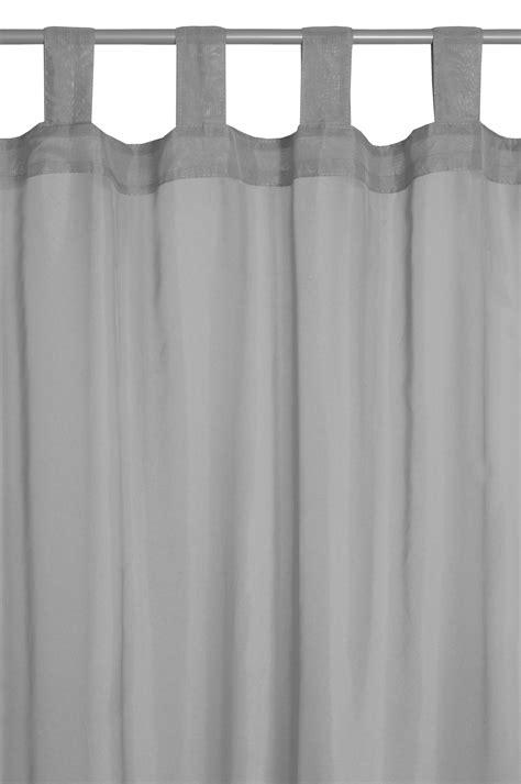 transparente gardinen vorhang gardine transparent schlaufenschal in grau