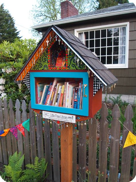 tiny library custom made little library boxes house crazy