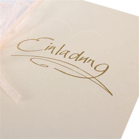 Einladungskarten Hochzeit Creme by Einladungskarte Hochzeit In Creme Tafeldeko