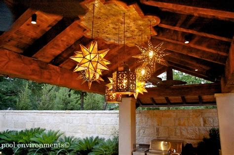 Mexican Outdoor Lighting Eclectic Eclectic Patio Dallas By Pool Environments Inc