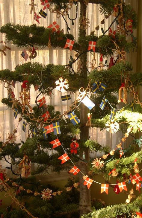 traditional swedish christmas ornaments beachrose ramblings scandinavian splendor wreaths trees sheepskin