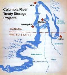 columbia river canada map columbia river treaty and canada historylink org