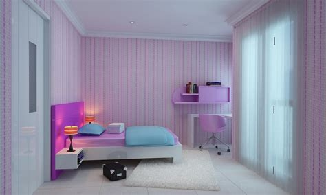 light pink  purple girl rooms interior designs