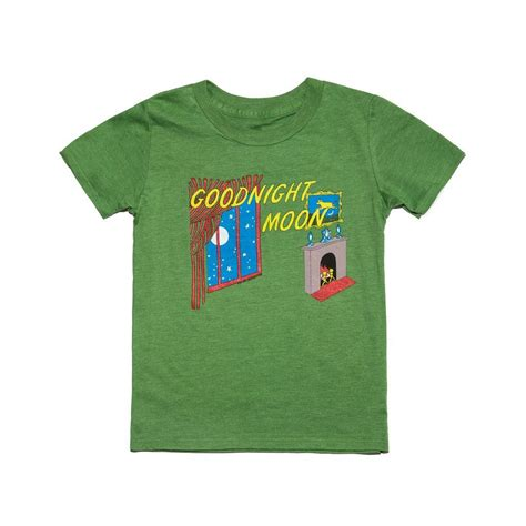 Green Moon Shirt Y out of print goodnight moon kid s t shirt green y 1027