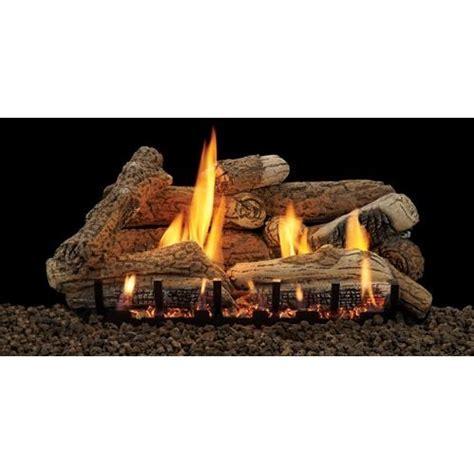 natural flame smokeless gel cartridge fireplace log set