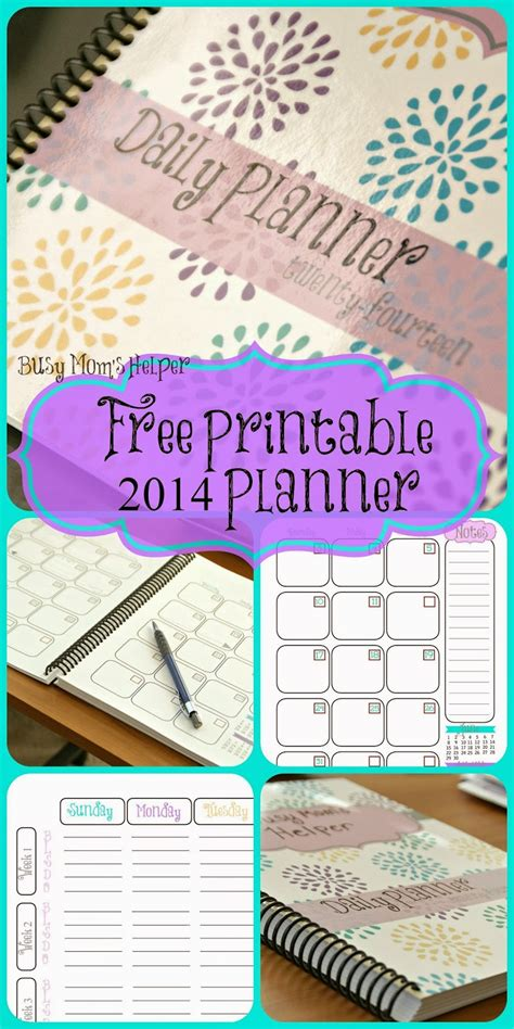 printable busy mom planner free printable 2014 planner busy mom s helper