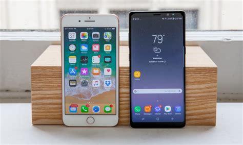 galaxy note 8 vs iphone 8 plus confronto al centesimo di secondo iphone italia