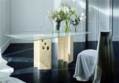 modern dining table  stone base vicenza shapes