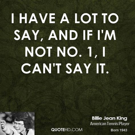 Im Not Says Gisele by Billie Jean King Quotes Quotesgram